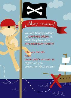 Pirate Monkey Invite
