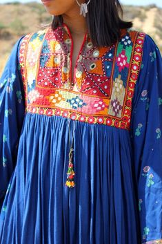 Pakistani Beauty Exceptional Mid Century Folk Art Dress