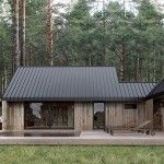 Gorgeous house with that wood and metal contrast Cabin Design, Small House Design, Future House, Weekend House, Tiny House Cabin, Forest House, House In The Woods, Home Fashion, Design Case