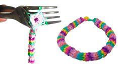 How to make HEXAFISH bracelet with TWO FORKS. 6-Pin Fishtail Bracelet. H...