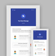 Notification App MailChimp template