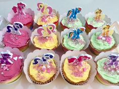 My Little Pony cupcakes #mylittlepony #cupcakes #birthday #colourful