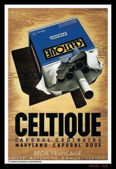 "PG315 ""Celtique"" Poster by Adolphe Mouron Cassandre (1934)"