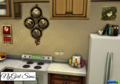 NyGirl Sims 4: Country Kitchen Rooster Decor