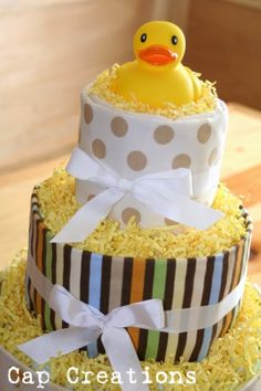 Baby shower baby blanket diaper cake