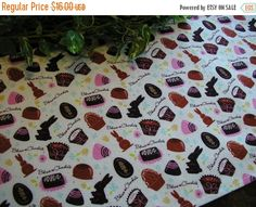 VALENTINES DAY SALE Easter Table Runner Chocolates by MakeMeOver
