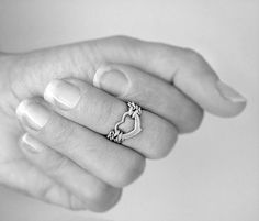 Heart Knuckle Mid Finger Rings