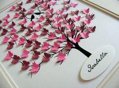 11 x 14 el árbol 3D de mariposas. por aboundingtreasures en Etsy