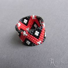 Hey, I found this really awesome Etsy listing at https://www.etsy.com/listing/116793809/colorful-beadwoven-peyote-ring-beaded