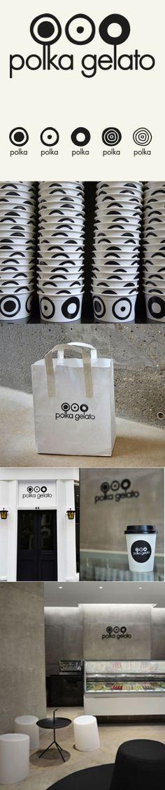 Polka Gelato store identity, design, branding by VONSUNG.