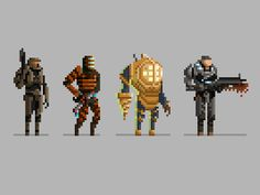 Pixel Video Game Characters by Michael B. Myers Jr.