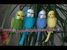 Волнистый попугайчик крючком - авторский видео МК - YouTube
