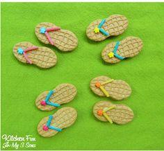 Yummm, Summertime Flip Flop Cookies!