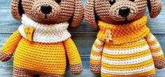 Amigurumi dog pattern to crochet for FREE. The height of finished amigurumi dog is about 25 cm You'll need ALIZE Bahar yarn and mm crochet hook. Crochet Bow Pattern, Crochet Amigurumi Free Patterns, Crochet Animal Patterns, Dog Pattern, Stuffed Animal Patterns, Crochet Animals, Crochet Dolls, Amigurumi Tutorial, Magarita