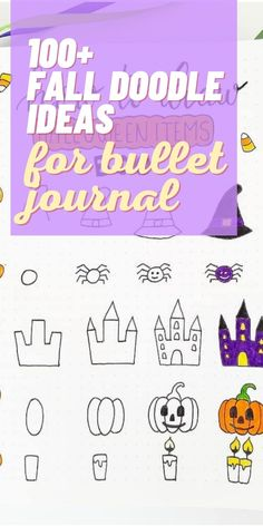 Fall leaf doodles bullet journal ideas that you have to see | halloween theme doodle ideas that are easy to copy and replicate | autumn doodles for beginners that you have to see |  #doodles #bujo #falldoodles