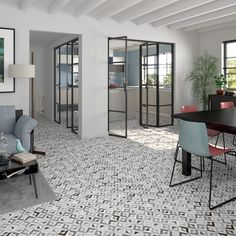 VIVES ceramica | Brenta Humo 20x20 cm. | living room | encaustic tiles | home
