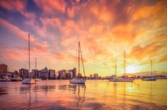 durban Durban South Africa, Kwazulu Natal, Getting Up Early, Sail Away, Outdoor Life, New York Skyline, Sailing, Sunrise, Clouds