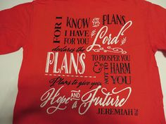 Faith Front Momogram Back Jeremiah 29:11  Glitter Vinyl