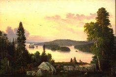"""Landscape Haminalahti"" - ""Maisema Haminalahdella"" Magnus von Wright"