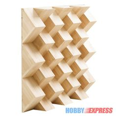 Arrowzoom Quadratic Acoustic Wood Diffuser Panels Sound Absorption Studio 60 x 60 x 8 cm (23.6 x 23.6 x 3.1 in) KK1098