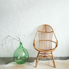 Vintage rattan chair – Spirale - atelierdupetitparc.fr