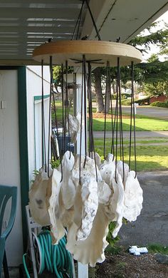oyster shell wind chime