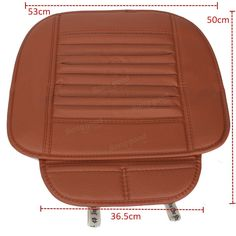 Universal Seatpad PU Leather Car Seat Covers for Auto Car Office Chairs Interior…