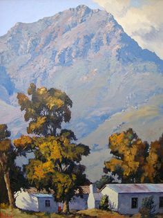 South African Artists, Sketch Painting, Watercolor Artists, Art Techniques, Impressionism, Home Art, Amazing Art, Landscape Paintings, Contemporary Art