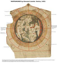 MappaMundi Venice Map, 1452