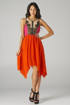 love the top - would prefer not a hankerchief skirt