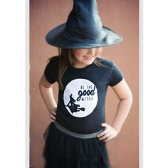 Girls Halloween Shirt Be the GOOD WITCH by SayWhatDesign on Etsy  Sweet halloween shirt for little girl!  Kids halloween shirt!