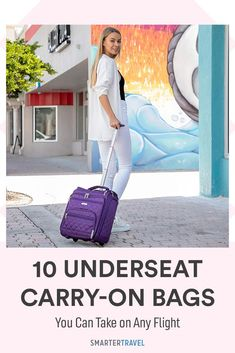 If you're worried your carry-on could be gate-checked on your next flight, check out these 10 top-rated underseat carry-on bags. Whether you're a chronic over-packer or tried-and-true business traveler, there's an underseat luggage option for every type of flyer. Underseat Carry On, 10 Top, Packing Tips, Carry On Bag, Top Rated, Gate, Business, Check, Travel
