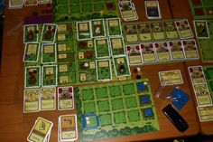 Agricola has a great commune-farm game board.