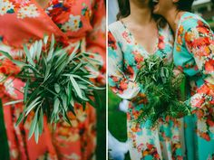 loose green bouquets