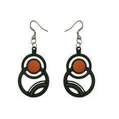 Batucada Saturne Earring - Orange / Grey $29.95 #leethal #accessories #fashion