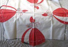 Vintage Southern Belle Tablecloth Elaborate by SharetheLoveVintage