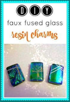 DIY faux fused glass tutorial -- use resin to make your own dichroic glass lookalike cabochons Ice Resin, Resin Molds, Dichroic Glass Jewelry, Resin Jewellery, Polymer Clay Jewelry, Clay Beads, Diy Jewelry, Jewelry Ideas, Beaded Jewelry