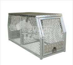 Cross deck aluminium dog cage 1 Internal Gate& Speak with our friendly staff today! Dog Cages, Tool Box, Gate, Divider, Decorative Boxes, Deck, Welding, Strong, Dopp Kit