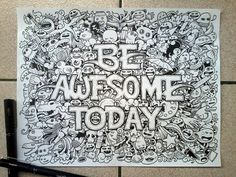 Be Awesome Today (These Doodles by Kerby Rosanes Will Amaze You on CrispMe)