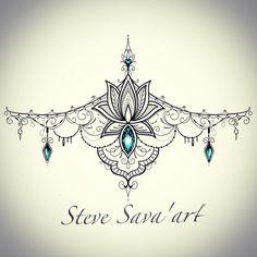 Love I love this Brustum tattoo design as well! tatoo feminina - tattoo feminina delicada - tattoo f Tattoo Mandala Feminina, Dotwork Tattoo Mandala, Underboob Tattoo, Tattoo Feminina, Lace Tattoo, Neue Tattoos, Body Art Tattoos, Sleeve Tattoos, Sternum Tattoo Design