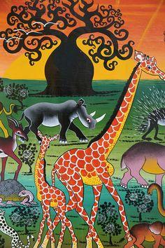 tinga tinga painting tanzania