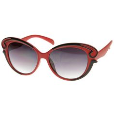 c66be93e9c85 Designer Inspired Butterfly Shape Baroque Style Oversized Fashion Sunglasses