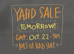 RAD YARD SALE