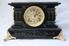 Antique Seth Thomas Shelf Mantel Clock Rugby Model 1904