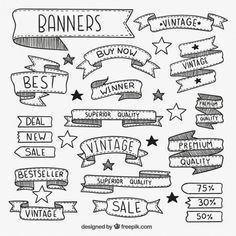 calligraphy banners and frames Ribbon Banner, Banner Doodle, Banner Drawing, Sketch Notes, Banner Vector, School Notes, Study Notes, Bullet Journal Inspiration, Hand Lettering
