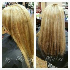 Multiple Hues of  Blonde Highlights and Dark Underneath @MMillerStylist #MMillerStylist #xtremesalon #brokenarrow #hair