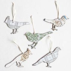 Vintage Wallpaper Ornaments-Birds Set $35 from Ladies & Gentlemen