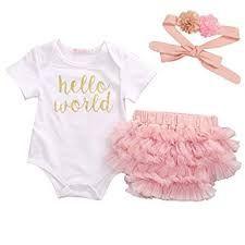 680ae8822 BBVESTIDO Baby Girls Pink Tutu Skirt with Gold Headband for 1 Year ...