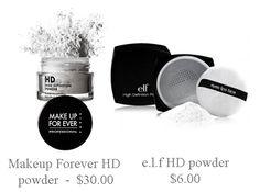 Dupe for MUFE HD Powder - e.l.f. Studio High Definition Powder 'Translucent' ($6.00)