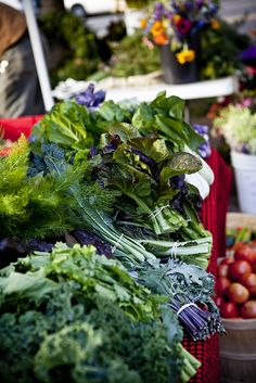Stop by your local farmer's market for the freshest local greens! Fruit And Veg, Fruits And Vegetables, Fresh Fruit, Charleston Farmers Market, Charleston Sc, Fresco, Fresh Market, The Fresh, Raw Food Recipes
